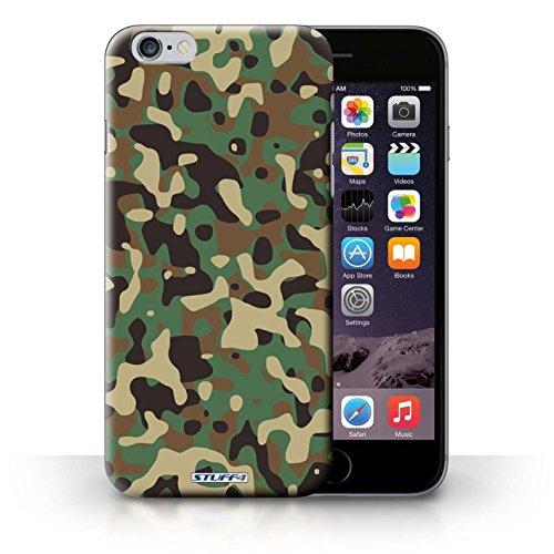 Kobalt Bianco 4 stampato Custodia Cover per iPhone 6+/Plus 5.5 cellulari telefoni / Collezione Camuffamento Army Navy Verde 3