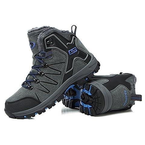 GOMNERAR Hommes et Femmes Bottes de randonnée Walking Ankle Waterproof Trekking Laces Shoes (Men EUR 44=UK8.5, Dark gray)