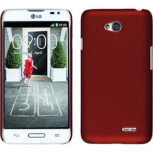 PhoneNatic Funda Rígida para LG L70 - goma rojo - Cover Cubierta + protector de pantalla