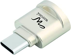 Wayona WCR1CS USB Type C Micro SD Card Reader Adapter for Type C Device (Silver)