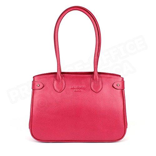 Sac à main paris cuir Fabrication Luxe Française Rose Fuchsia