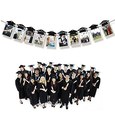 Kuuqa Graduation Party Photo Clip Set with Mini Grad Cap Graduation Party Decorations Party favors