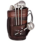 Lavanaya Silver - Exclusive Steel Golf Bar Set With Beautiful Leatherette Bag .