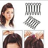 2pcs Femmes Noir Mini Inséré Pins cheveux épingles à cheveux Barrettes épingles à cheveux en métal