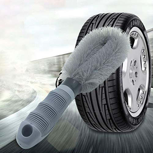 Qiman Feine Drahtbürste Auto Motorrad Rad Waschen Anti Slip Griff Staubreinigung Premium Duster Remover Fahrzeugräder Pflegen Werkzeug - Bluetooth-auto-rad