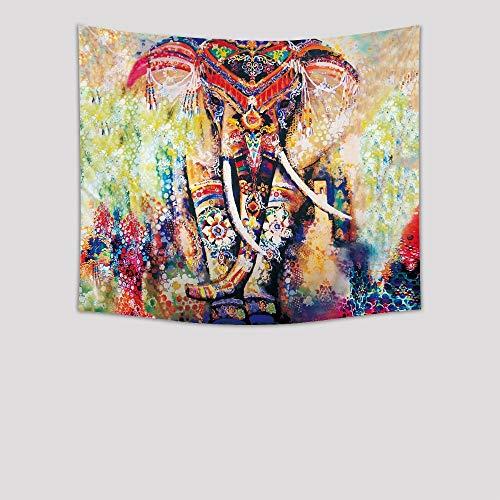 Tapiz De Pared Grande Tapicería Estilo Bohemio Colgantes De Pared Elefantes Y...