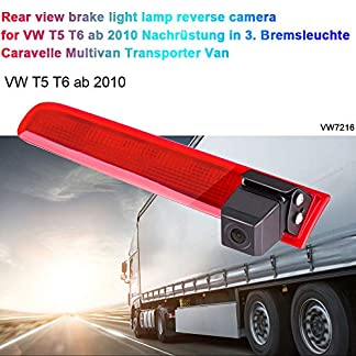 Auto-Rckfahrkamera-Einparkhilfe-Farbkamera-Rckfahrsystem-Einparkkamera-fr-Rckfahrkamera-Transporter-T5-T6-ab-2010-Nachrstung-in-3-Bremsleuchte-Caravelle-Multivan-Transporter-Van