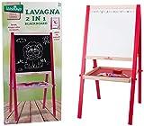 Legnoland 35479 Lavagna in Legno H con Gessi e Cancellino, 89 cm