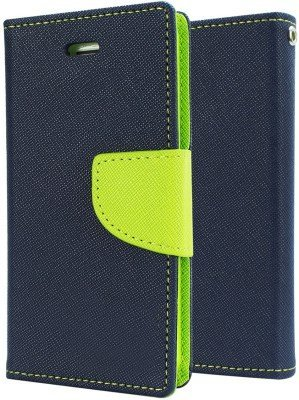 Mercury Diary Wallet Style Flip Cover Case for Micromax Canvas Juice 2 AQ5001 GREEN BY KPH