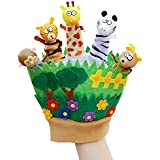 Happy Cherry New Born Baby Cute Forest Animals Hand Finger Plush Puppets Glove For Children Early Education Toys For Kids Tell Stories Puppet