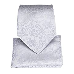 Idea Regalo - DiBanGu -  Cravatta  - Uomo Silver Taglia unica