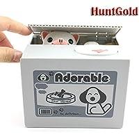 HuntGold cute chiot volent l'argent boîte tirelire économiser médaille(1pcs)