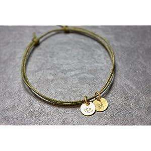 Armband Gravur Lotus vegan Freundschaftsamband…