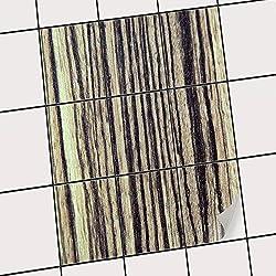 creatisto Bad-Folie Fliesen Zum Aufkleben | Klebe-Fliesenaufkleber Küchenfliesen Wanddeko | 20x25 cm Design Motiv Schnurstracks - 9 Stück