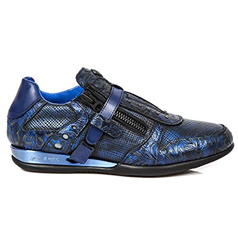New Rock M Hy018 S6, Baskets mode homme - Bleu (Vintage Flower Box Metal Azul/Br), 41 EU
