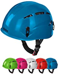 Casco de escalada casco Argalí KID Universal del Niño vías ferratas en muchos colores por Alpidex, Color:turquoise blue