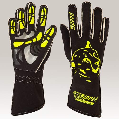 Speed Racewear - Motorsport Handschuhe - Karthandschuhe Melbourne - Schwarz/neongelb (10)
