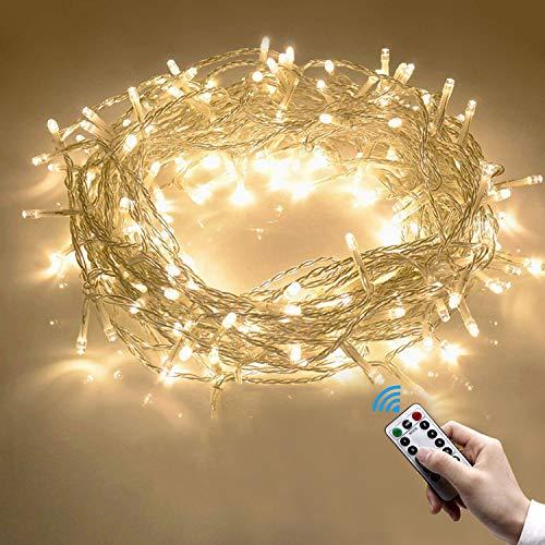 Cadena Luces, 10m 100 LEDs Guirnalda Luces Blanco