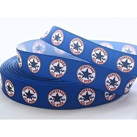 Azul Converse Grosgrain cinta–ideal para manualidades, accesorios para el pelo y hacer tu propio pelo lazos