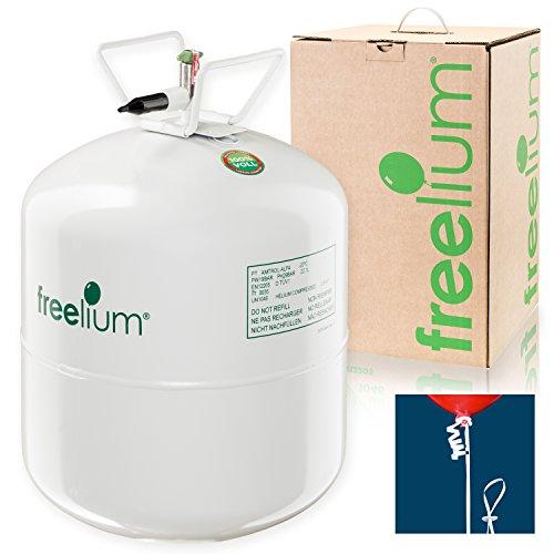 Preisvergleich Produktbild freelium® go 410 - Helium / Ballongas To Go Flasche mit satten 0,41 m³ / 420 Liter + 50x Ballonband