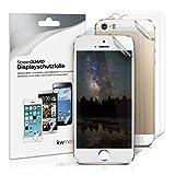 kwmobile 3x pellicola protettiva DISPLAY opaca e antiriflesso + 3x pellicola protettiva RETRO transparente per Apple iPhone SE/5/5S - qualità premium