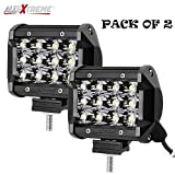 #1: AllExtreme Heavy Duty 36 Watt CREE , 12 LED Fog Light / Work Light Bar Spot Beam Off Road Driving Lamp 2 Pcs, Universal Fitting Besting Fit for All Bikes and Cars - Smallest and Most Compact Design in the Field of 36 Watt Lights