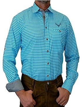 trenditionals Slim Line Trachtenhemd Heinrich mit Kontasten