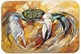 Caroline's Treasures JMK1108LCB Blue Crab Glass Cutting Board, Large, Multicolor