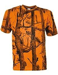 Percussion - T-shirt de chasse GhostCamo Blaze&Black Percussion