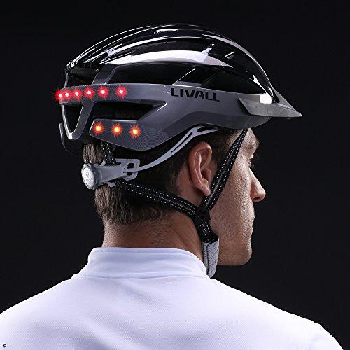 Livall Fahrradhelm MT1 mit Rücklicht, Blinker und SOS-System (schwarz/anthrazit) - 12
