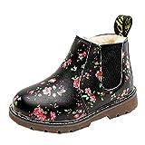 Vovotrade Kurze Stiefel Kinder Jungen Mädchen Schuhe Stiefel Winter Warm Blumenmuster Sneaker Winter Dicke Schnee Baby Freizeitschuhe 1-12 Jahre alt
