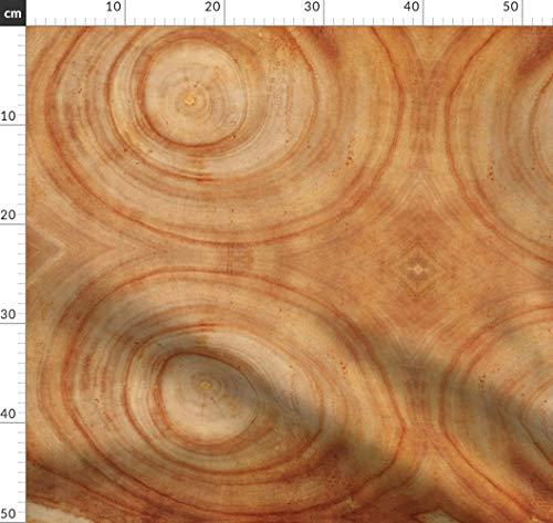 Bauholz, Holz, Zimmermann, Baumringe Stoffe - Individuell Bedruckt von Spoonflower - Design von Thinlinetextiles Gedruckt auf Jeansstoff -