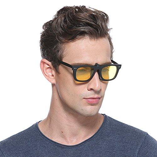 Cyxus Clip-On Polarisierte Sonnenbrille, [Sonne] UV-Brille für Männer/Frauen (Gelb)