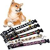 Etophigh Halloween Hundehalsband Festival Nylon Halsbänder Mit Glocken Für Hunde Festival Nylon Harness Hund Halskette Klassische Hundeleinen
