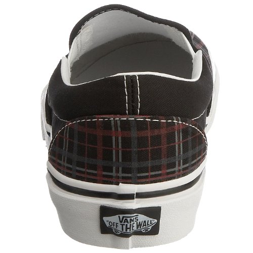 Vans U Classic Slip-on, Baskets mode mixte adulte Negro (TM PLAID SP10 Black/Chili)
