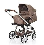 ABC Design Kombi-Kinderwagen Set Turbo 4 - inkl. 3in1 Tragewanne für Neugeborene, Liegefunktion, ausklappbarem Sonnenverdeck, Schieber höhenverstellbar, Sitz drehbar, große Räder - Bean