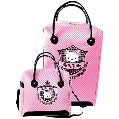 Hello Kitty - Juego de maletas  rosa rosa (b)