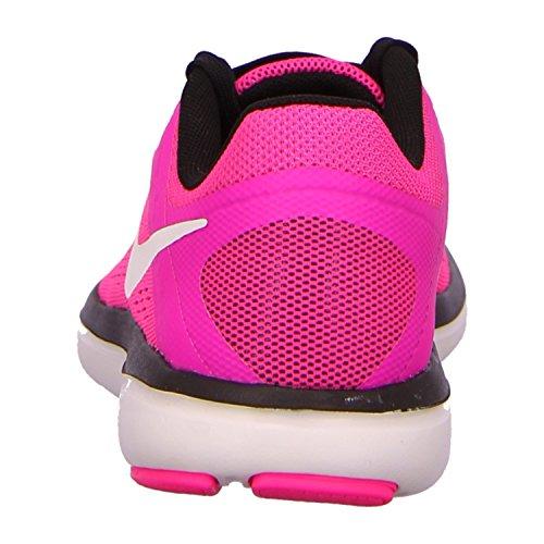 Nike Wmns Flex 2016 RN, Scarpe da Ginnastica Donna Pink Blast/White/Black/Elctrc Grn