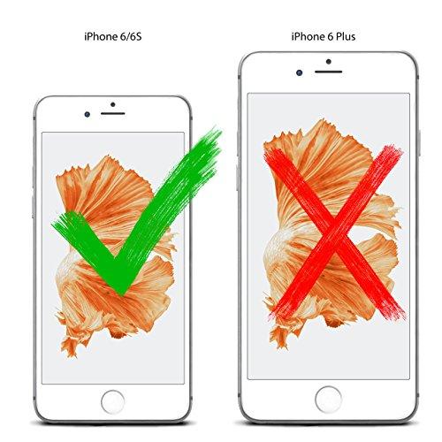 iPhone 6S Hülle Rot Sleeve [OneFlow Slide Cover] Ultra-Slim Schutzhülle Dünn Handyhülle für iPhone 6/6S Case Full Body Handytasche Kunst-Leder Tasche ROYAL-BLUE