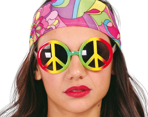 Guirca Fiestas GUI18224 - verschieden-farbige Hippy-Brillen