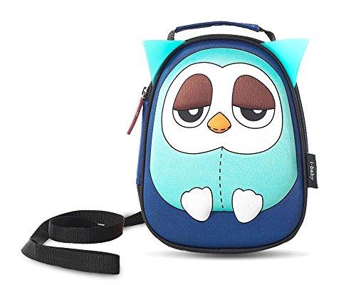 i-baby Rucksäcke Schultaschen für Babys und Kinder Wasserdicht 3D Cartoons Zoo Kleinkind Alter 1 2 3 4 5 Jahre mit Anti-Verlust Band 1 Meter AFFE (Blue Owl)