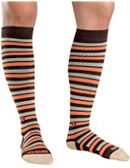 Zensah Herren Even Stripes Compression Socks Kompressions