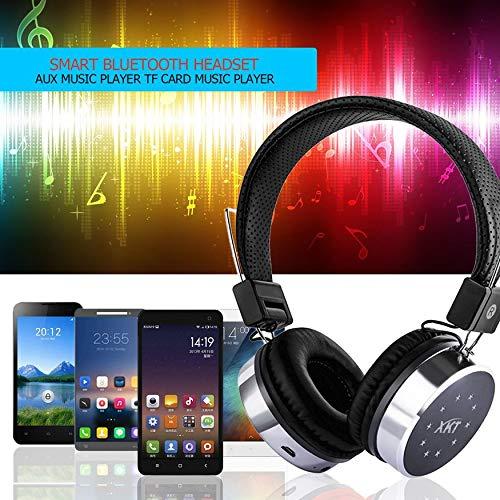 Yaoaomon XK-B06 Headset Kopfhörer mit grellem Licht Unterstützung TF-Karte FM-Radio schwarz -