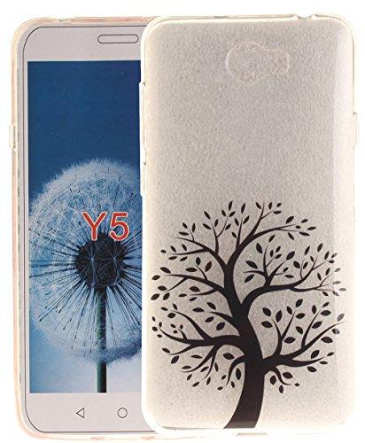 Preisvergleich Produktbild Tasche ISENPENK Für Huawei Y5 2 / Huawei Honor 5 / Huawei Honor Play 5 / Huawei Honor 5 Play Hülle Silikon Durchsichtig, Huawei Y5II Hülle Transparent, Ultra Slim TPU Schutzhülle Huawei Y5II Hülle Silikon Muster Schutz HandyHülle[Pattern 10]