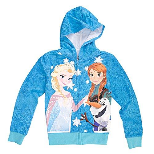 Disney Frozen Trio Girls Zip-Up Hoodie Sweatshirt   XS (Hoodie Disney Zip-up)
