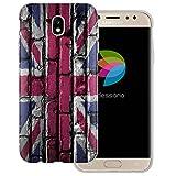 dessana England Transparente Silikon TPU Schutzhülle 0,7mm dünne Handy Tasche Soft Case für Samsung Galaxy J5 (2017) England Flagge