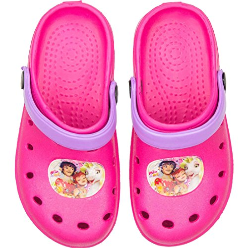 Mia And Me Kinder Badesandalen Badeschuhe Clogs in Pink mit tollem Mia And Me-Motiv,26/27