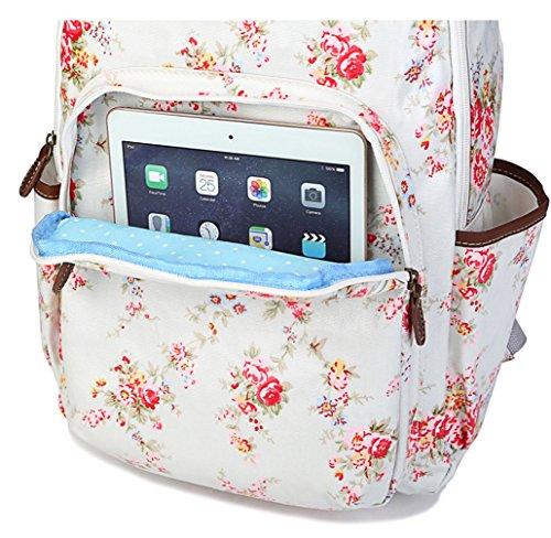 Keshi Leinwand Niedlich Damen accessories hohe Qualität Einfache Tasche Schultertasche Freizeitrucksack Tasche Rucksäcke Blau