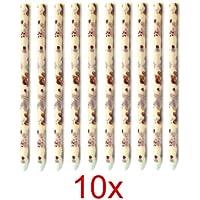 Preisvergleich für Incutex 10x sanft duftende Ohrkerzen mit Rosenduft, Wellnesskerzen wax ear candle