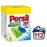 Persil Universal Duo-Caps, vordosiertes Vollwaschmittel, 360° Reinheit & Pflege, 2-Kammer-Technologie, 2er Pack (2 x 56 Waschladungen)